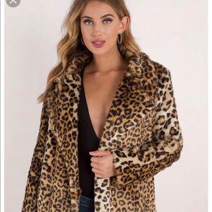 Leopard coat (faux)